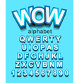 colorful alphabet font to use for children vector image vector image