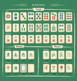 complete mahjong set with symbols explanations vector image vector image