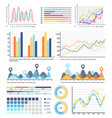 diagram and infographics with segments explanation vector image vector image