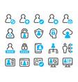 digital account icon set vector image vector image