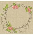 doodle floral frames vector image