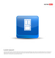 door icon - 3d blue button vector image