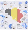 Dot And Flag Map Of Belgium Infographic Design vector image vector image