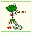 Easter Topiary Bunny vector image vector image