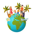 family vacation composition vector image