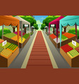 farmers market background vector image vector image