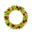 fir wreath 2311 vector image