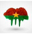 Flag of Burkina Faso painted colors vector image