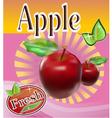 Fresh apple juice Banner vector image