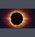 glow light effect the planet covering the sun in vector image vector image
