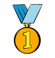 gold medal icon icon cartoon vector image
