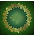 Golden damask circle vector image vector image