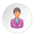 Hotel receptionist icon cartoon style vector image