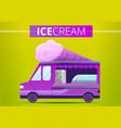 ice cream truck concept banner cartoon style vector image