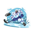 ice hockey team player vector image vector image