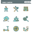 Icons line set premium quality of family camping vector image vector image