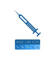 isolated injection outline vaccination vector image