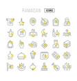 line icons ramadan vector image vector image