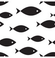 marine seamless pattern fish vector image vector image