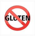 No Gluten free sign icon vector image