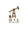 oil mining logo icon element design template vector image