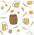 oktoberfest festival seamless background vector image