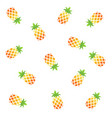 pineapple background vector image vector image