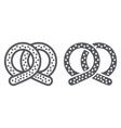 pretzel line and glyph icon bakery and food vector image vector image