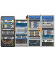 Rack system database machine vector image vector image