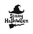 scary halloween theme handdrawn lettering phrase vector image vector image