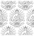 seamless pattern buddha lotus light and tiger vector image vector image