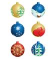 set of christmas decorative balls vector image
