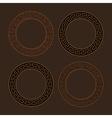 set of four round meander frames vector image