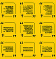 Set of motivational quotes about learning mistakes