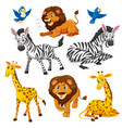 set of wild animal vector image vector image