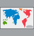 similar world map isolated on white background vector image vector image