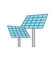 solar panels isolated on white background vector image vector image