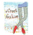 street fashion vector image vector image