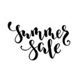 summer sale hand drawn calligraphy and brush pen vector image vector image