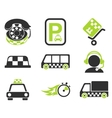 taxi services icon set vector image