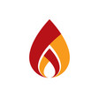 the power of burning flame fire element abstract vector image