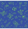 Toy doodle art for kids with blue backgrounds vector image