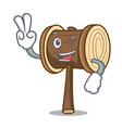 two finger mallet character cartoon style vector image