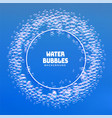 water bubbles or soap foam frame background vector image vector image