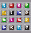 web tools glass icons set vector image