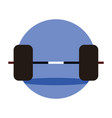 weightlifting barbell emblem graphic vector image vector image