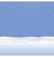 white snow falling on blue background vector image vector image