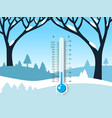 winter frozen landscape with field covered vector image vector image