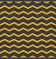 zig zags black and yellow seamless pattern vector image