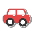vintage car kid toy icon vector image
